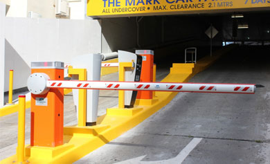 Automatic boom gates parking systems